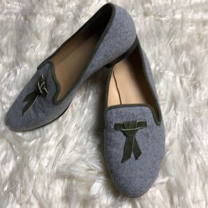Cole Haan grey Smoking Flat Loafers